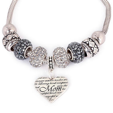 Fiora Sterling Silver Mother S Day Heart Bracelet Sam S Club