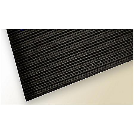 So-Soft Anti-Fatigue Mat - 3' x 10' - Black Ribbed Surface