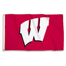 NCAA University of Wisconsin Badgers 3' x 5' Flag with Pole Mount Kit