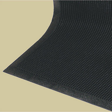 Vee-Stop Tough Rubber Scraper Mat - 4' x 6' - Black