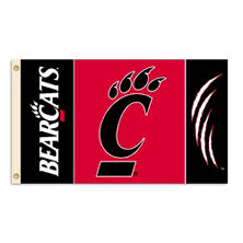 NCAA University of Cincinatti Bearcats 3' x 5' Flag with Pole Mount Kit