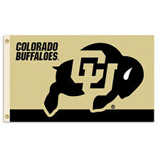 NCAA University of Colorado Buffaloes 3' x 5' Flag with Pole Mount Kit