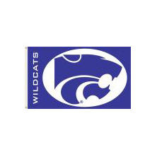 NCAA Kansas State University Wildcats 3' x 5' Flag with Pole Mount Kit