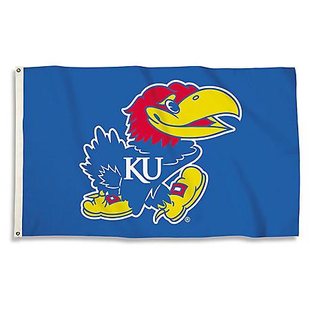 NCAA University of Kansas Jayhawks 3' x 5' Flag with Pole Mount Kit
