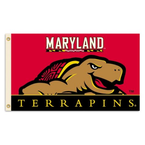 NCAA University of Maryland Terrapins 3' x 5' Flag with Pole Mount Kit