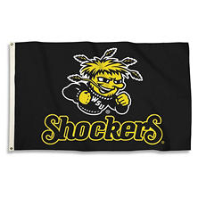 NCAA Wichita State University Shockers 3' x 5' Flag with Pole Mount Kit