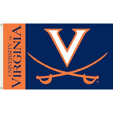 NCAA University of Virginia Cavaliers 3' x 5' Flag with Pole Mount Kit