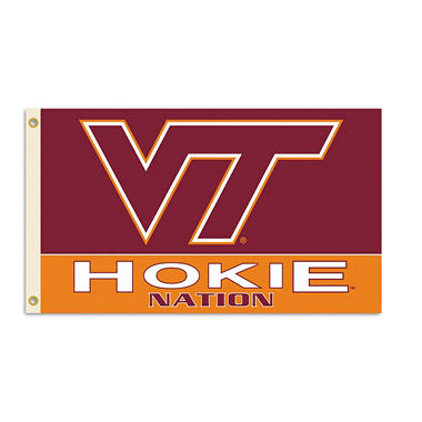 NCAA Virginia Tech Hokies 3' x 5' Flag with Pole Mount Kit