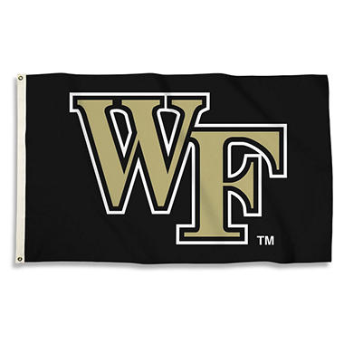 NCAA Wake Forest University Demon Deacon 3' x 5' Flag with Pole Mount Kit