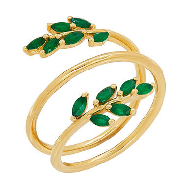 statement yellow products zirconia huge single silvertone emerald stone cut cubic ring