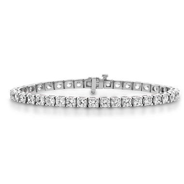 9.28 CT. T.W. Diamond Tennis Bracelet in 14K Gold (H-I, I1)