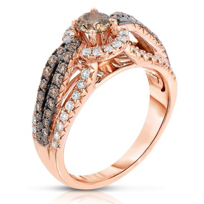 115 CT TW Fancy Brown Diamond Ring in 14K Rose Gold Sams Club