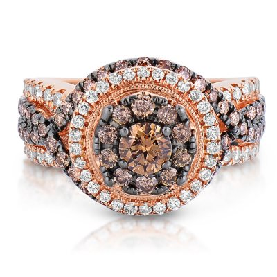 195 ct tw Fancy Brown Diamond Ring in 14K Rose Gold HII1