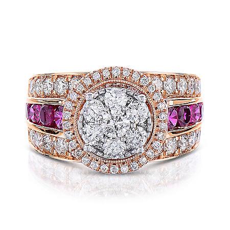 1.95 CT. T.W. Diamond Ring in 14K Rose Gold (I,I1)