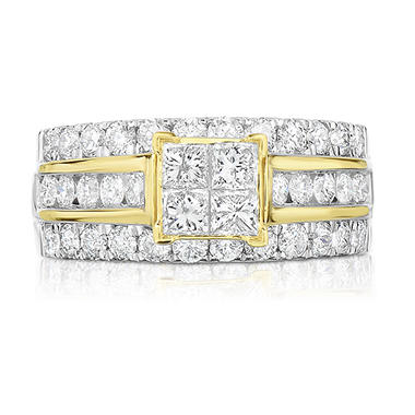 1.95 CT. T.W. Diamond Engagement Ring in 14K Yellow Gold (HI, I1)