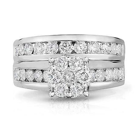 1.95 ct. t.w. Diamond Engagement Set in 14K White Gold (HI-I1)