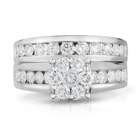 1.95 ct. t.w. Diamond Engagement Set in 14K White Gold (HI-I1)