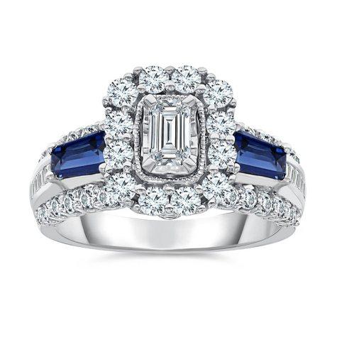 1.45 CT. T.W. Single Center Engagement Ring in 14K White Gold (I,I1)