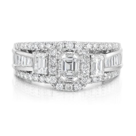 1.45 CT. T.W. Single Center Engagement Ring in 14K White Gold (HI,SI2-I1)