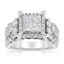 2.95 CT. T.W. Diamond Engagement Ring in 14K White Gold (I, I1)