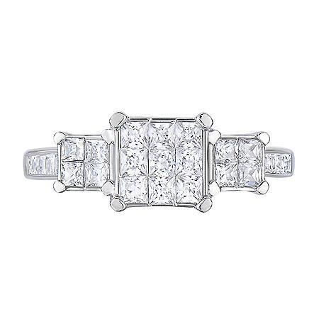 0.95 CT. T.W. Diamond Ring in 14K White Gold (I, I1)