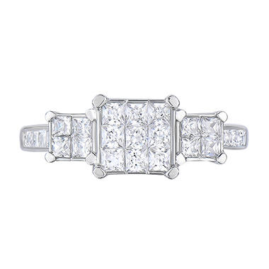 0.95 CT. T.W. Diamond Ring in 14K White Gold (I, I1)