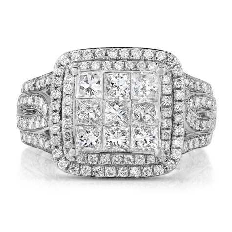 1.95 ct. t.w. Diamond Ring in 14K White Gold (HI, I1)