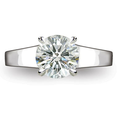 2.24 ct. Round Brilliant-Cut Diamond Solitaire Ring in Platinum (I, VS2)