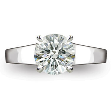 2.14 ct. Round Brilliant Diamond Solitaire Ring in Platinum  (H, VS2)