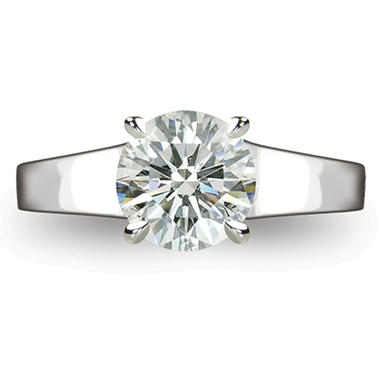 2.12 ct. Round Brilliant Diamond Solitaire Ring in Platinum  (I, VS1)