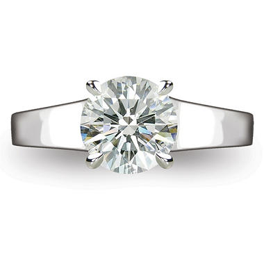 2.01 ct. Round Brilliant-Cut Diamond Solitaire Ring in Platinum (I, SI1)