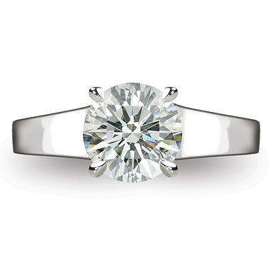 2.0 ct.  Round Brilliant-Cut Diamond Solitaire Ring in Platinum  (I, VS2)