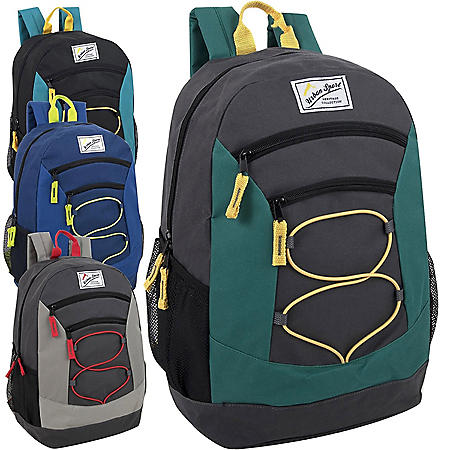 "Urban Sport 18"" Bungee Backpack, 4 Assorted Colors, 24ct. Case"