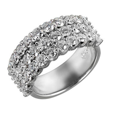 3.0 ct. t.w. Diamond Band in 14K White Gold (I, I1)