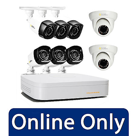 $150.00 off Q-See 8 Channel 720p HD Security System with 8 High Definition 720p Cameras and 1TB Hard Drive