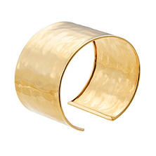 Italian High Polished 14K Solid Gold Cuff