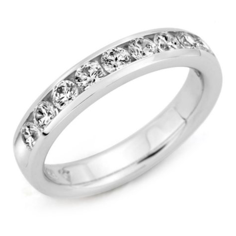 2.00 ct. t.w. Channel-Set Round Diamond Band in Platinum (H-I, I1)