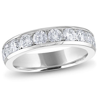 2.00 ct. t.w. Channel-Set Round Diamond Band in 14K White Gold (H-I, I1)