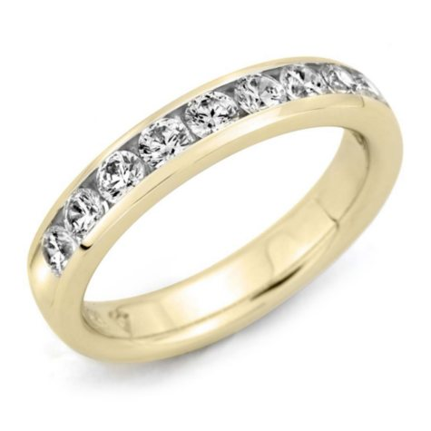 2.00 ct. t.w. Channel-Set Round Diamond Band in 14K Yellow Gold (H-I, I1)