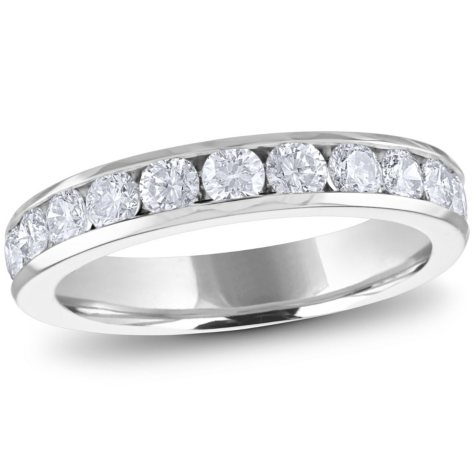 1.00 ct. t.w. Channel-Set Round Diamond Band in 14K Gold or Platinum (H-I, I1)