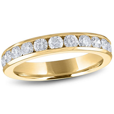 1.00 ct. t.w. Channel-Set Round Diamond Band in 14K Yellow Gold (H-I, I1)