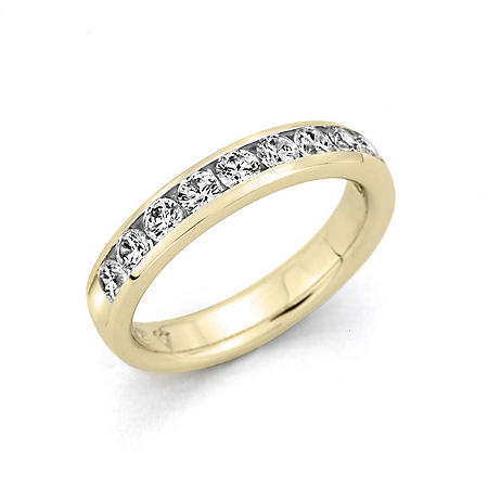 0.25 CT. T.W. Channel-Set Round-Cut Diamond Band in 14K Yellow Gold (H-I, I1)