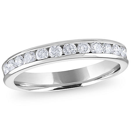 0.50 CT. T.W. Channel-Set Round Diamond Band in 14K Gold or Platinum