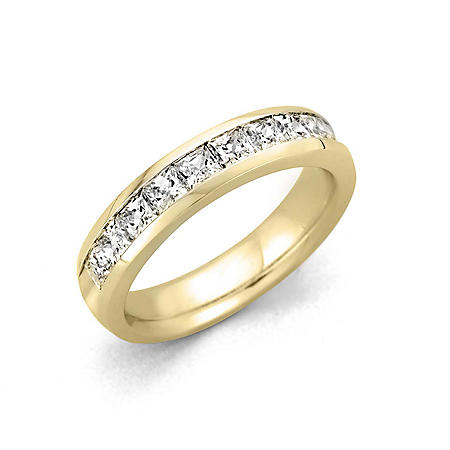 0.25 CT. T.W. Channel Set Princess Diamond Band in 14K Yellow Gold (H-I, I1)