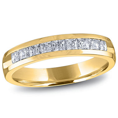 8c6a88892f6 0.50 ct. t.w. Channel Set Princess Diamond Band in 14K Yellow Gold ...