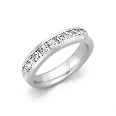 .25 ct. t.w. Channel Set Princess Diamond Band in Platinum (H-I, I1)