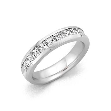 1.00 ct. t.w. Channel-Set Princess Diamond Band in Platinum (H-I, I1)