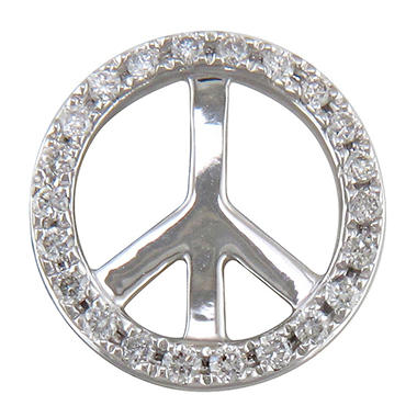 .10 ct. t.w. Diamond Peace Sign Pendant