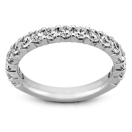 0.25 CT. T.W. 17-Stone Shared Prong Diamond Band in 14K White Gold (H-I, I1)
