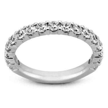 1.50 ct. t.w. 17-Stone Shared Prong Diamond Band in 14K White Gold (H-I, I1)